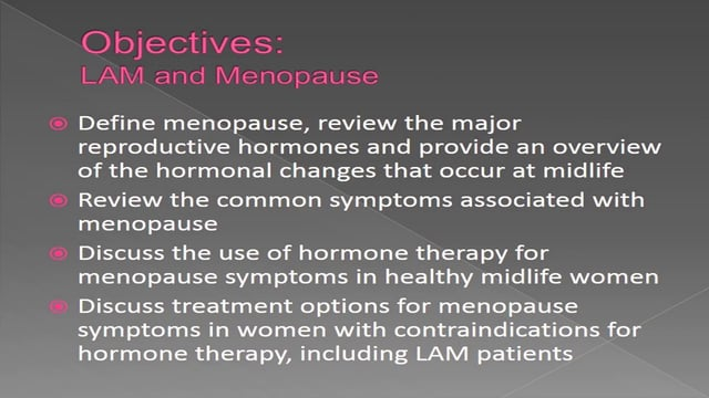 LAM, Menopause and Intimacy