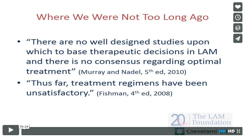 Risks and Benefits of Drug Therapy in LAM